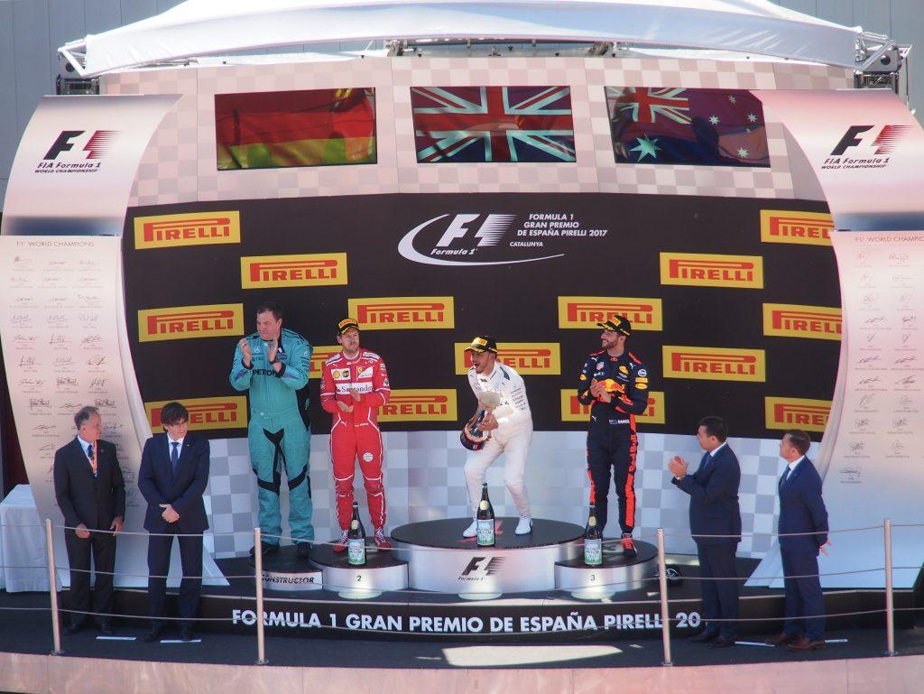Podium F1 Gran Premio de España Pirelli 2017