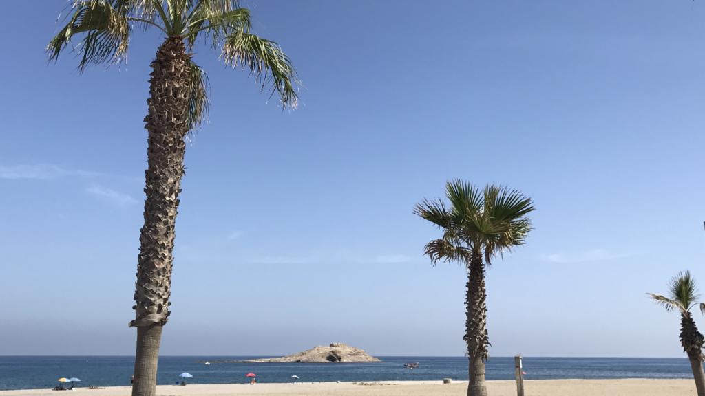 Playa de Carboneras y la Isla San Andrés